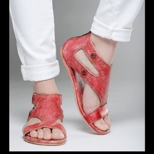Bed Stü Soto Sandals in Red Lux